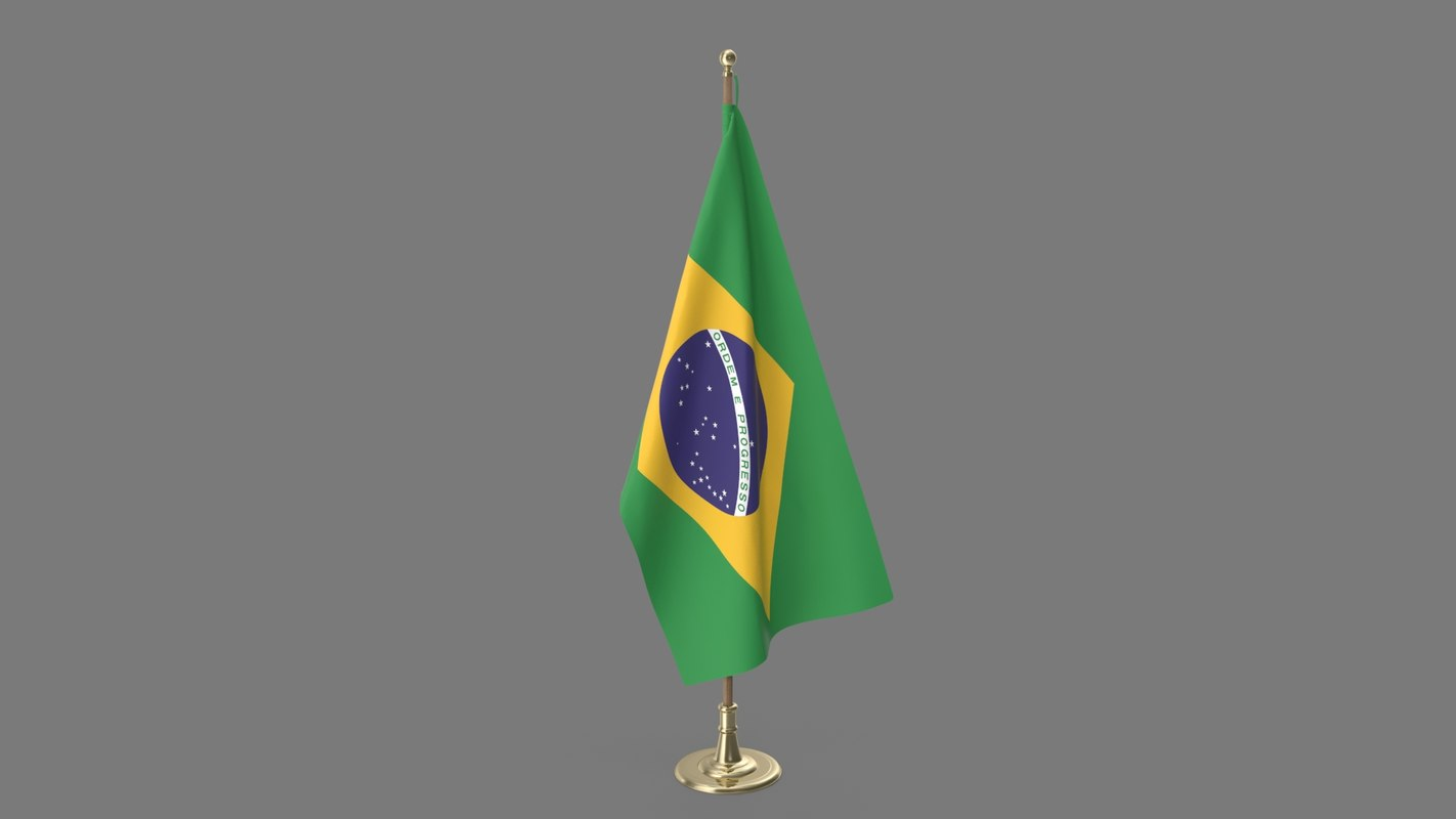 brazilian office flag 3D