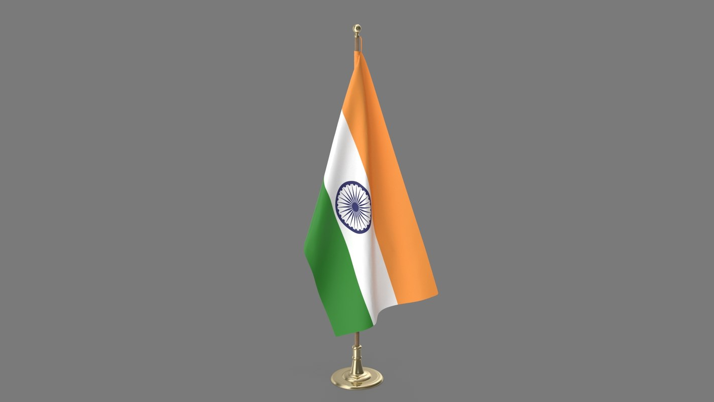 3D indian office flag