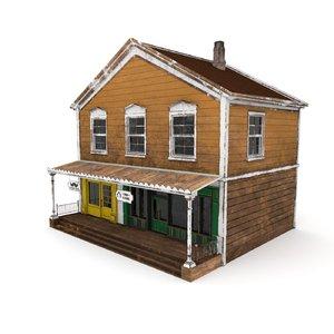 western house games 3D model