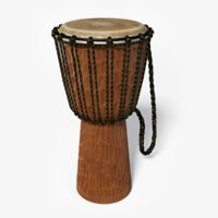 3D djembes drum instrument model
