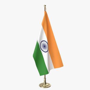3D indian office flag