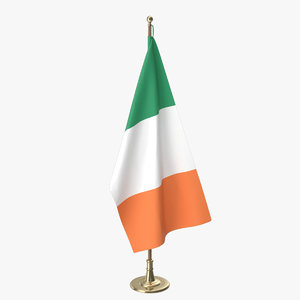 irish office flag 3D