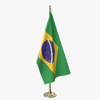 brazilian office flag 3D