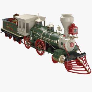 christmas train 3D model