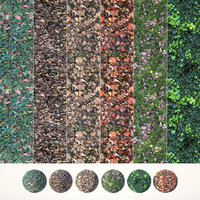 6 Seamless Leaf Material Textures