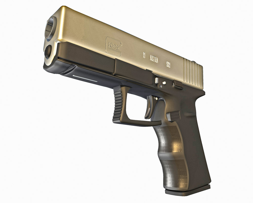 9mm pistol 3D model