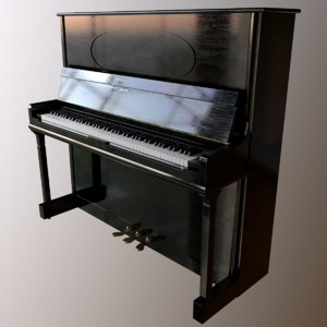 piano old 3D model