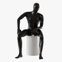 3D faceless male mannequin