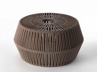 3D zigzag pouf model