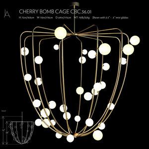 cherry bomb cage 3D model