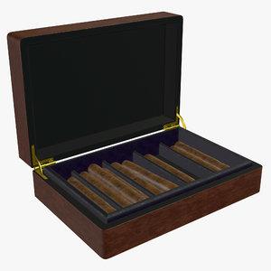 3D box cigar model