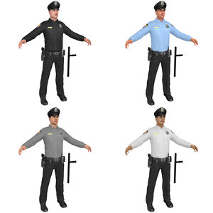 pack police officer 3D model