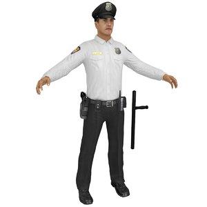 3D man gun model