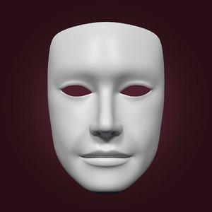 3D model neutral mask