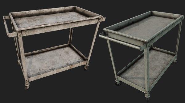 rusty push cart 2 3D model