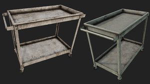 rusty push cart 2 3D model