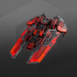 3D frigate gx7 model