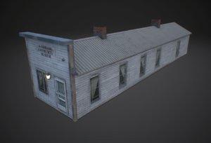 community museum low-poly 3D