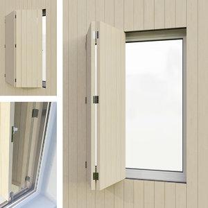 shutters 4 3D model