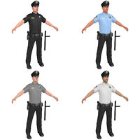 pack police officer 3D