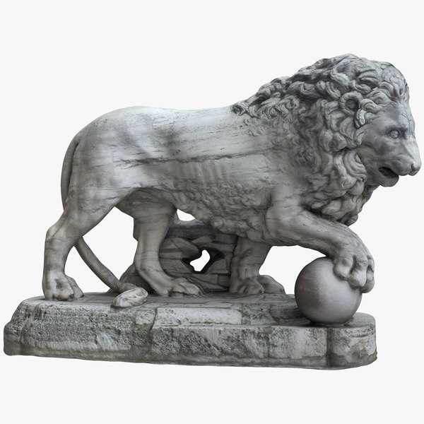medici lion right 3D
