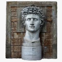 caesar augustus statue 3D model