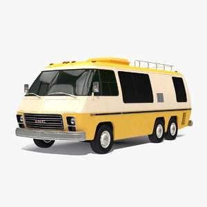 gmc motorhome 23 ft 3D model