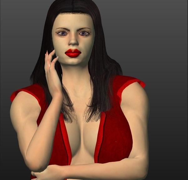 3D women breast animation model