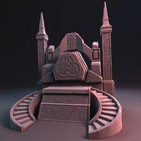 3D pedestal fantasy