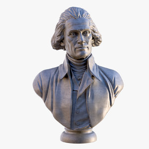 thomas jefferson bust 3D model
