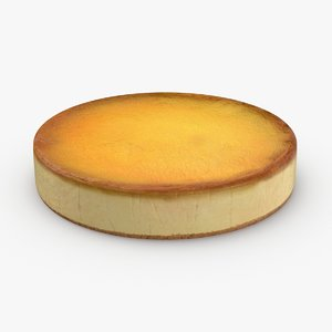 3D new-york-style-cheesecake---whole model