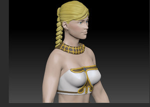 female character amazon 3D model
