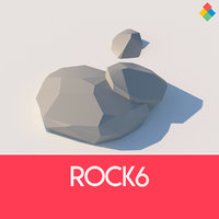 3D rock 6 model