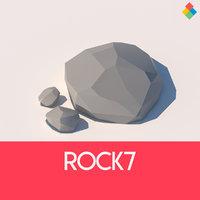 rock stone nature 3D model
