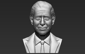 3D prince charles bust ready model