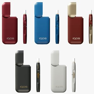 iqos color cigarette 3D model