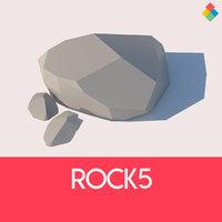 3D model rock stone nature