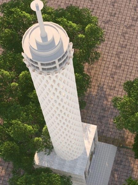 3D cairo tower model