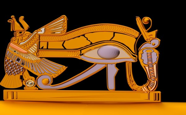 3D ancient egypt eye horus