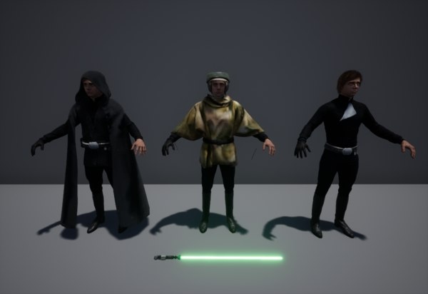 luke skywalker episode 3D model