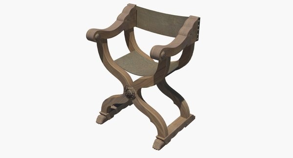 curule chair century 15th 3d max