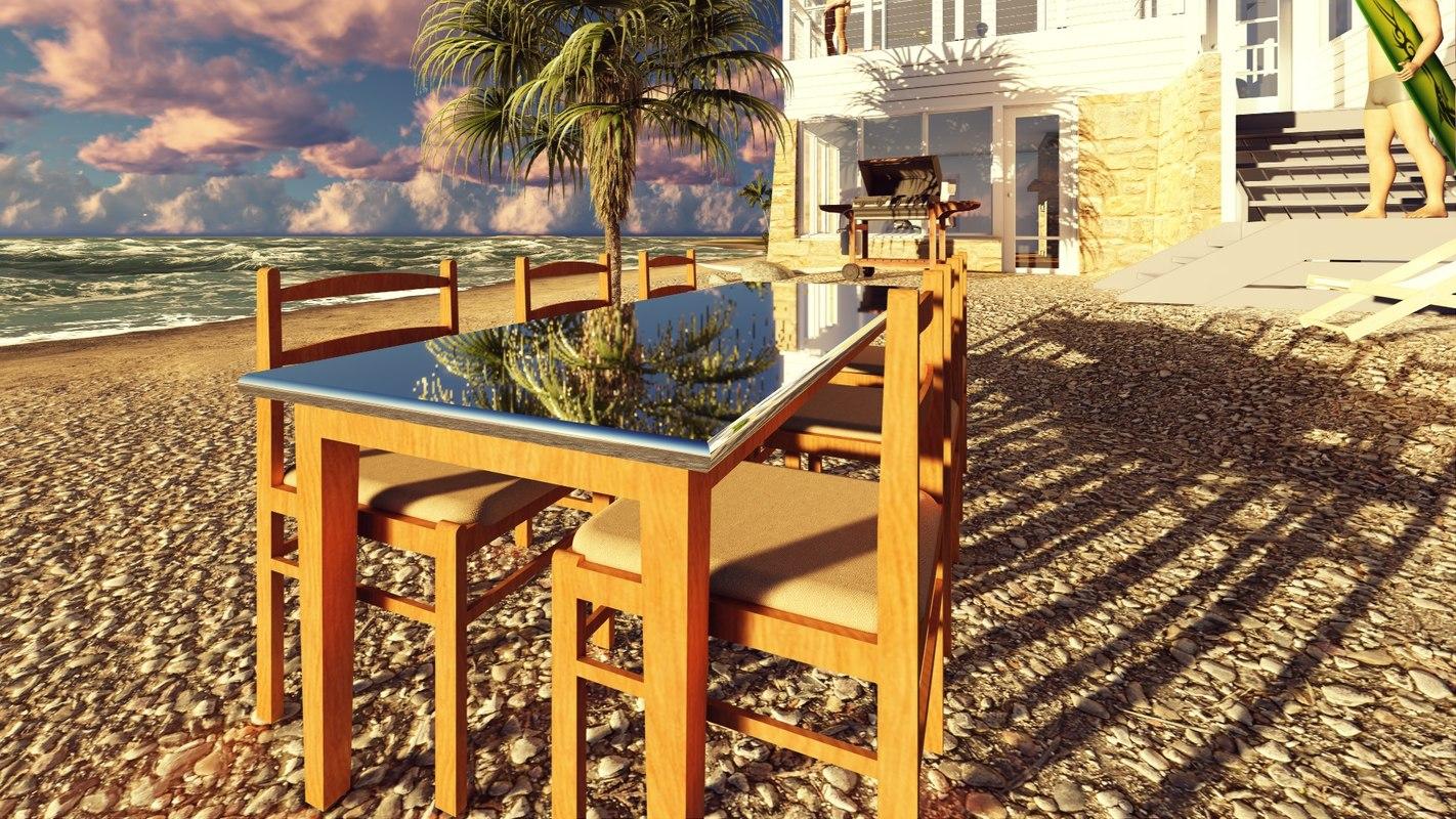 3D table chair