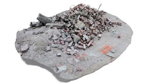 rubble debris 2 architectural 3D