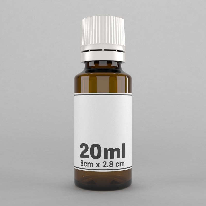 bottle 20ml 3D model