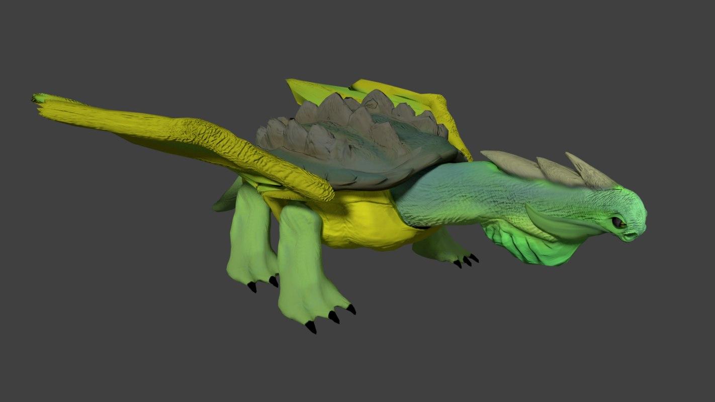 turtle dragon model