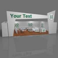 Exhibition Booth Obj : Exhibition booth 3d models for download turbosquid