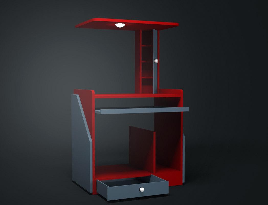 smart computer table - 3D model