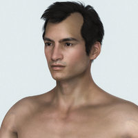3D young male character model