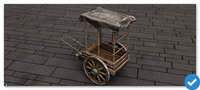 3D model high-poly carriage