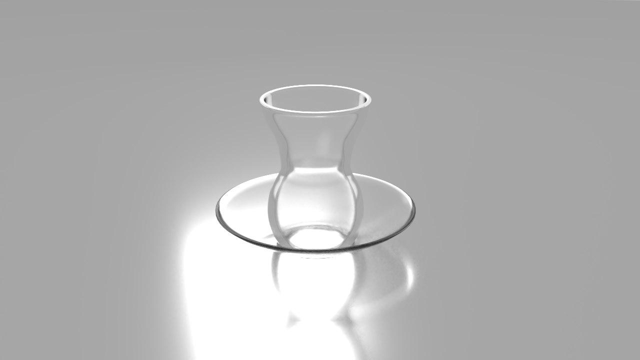3D model glass ince belli